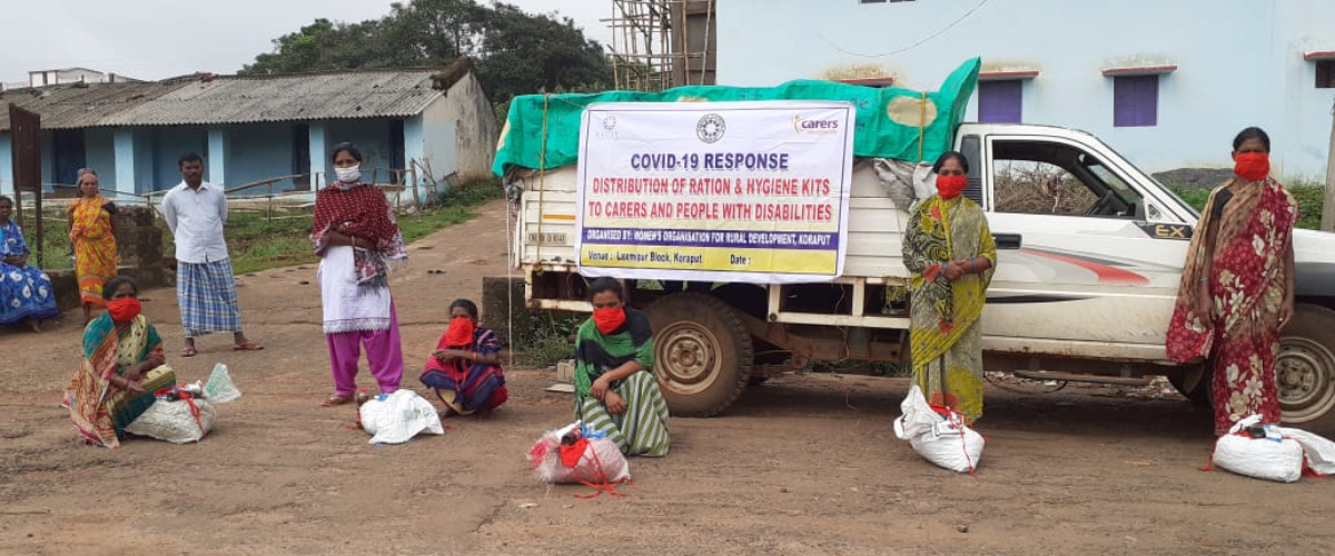 Emergency relief to people with disabilities and long term health conditions and their carers during the Covid-19 pandemic in India